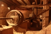 poulies et courroies dans la cave